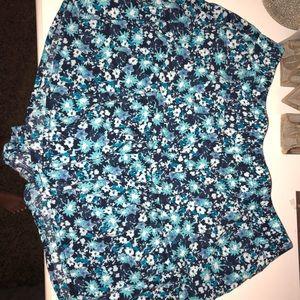 cute blue floral boutique shorts